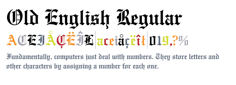 Font Old English Regular